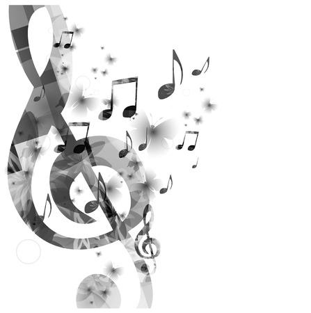 G 音部記号とバック グラウンド ミュージック  イラスト・ベクター素材