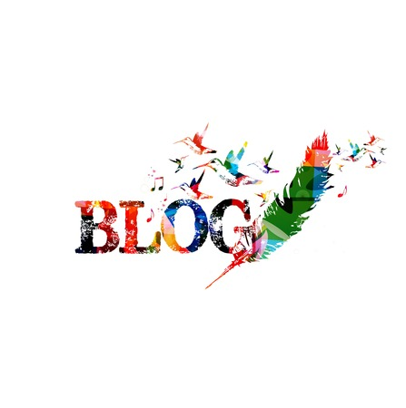 content writing: Blog colorful inscription