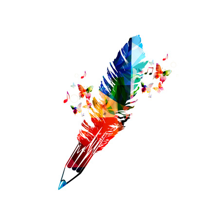pens: Creative writing concept Illustration
