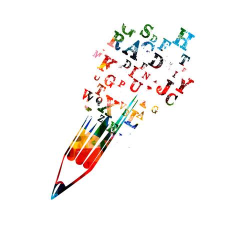 Kreatywna koncepcja pisania Ilustracje wektorowe