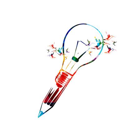 Creatief schrijven begrip Stock Illustratie