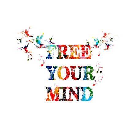 free backgrounds: Free your mind inscription