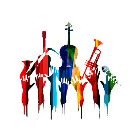 Kleurrijke muziek ontwerp Stock Illustratie