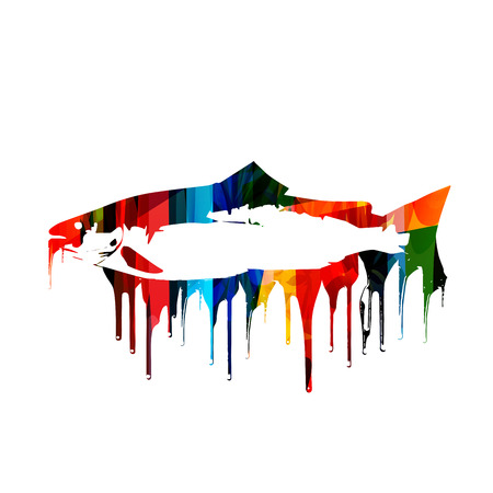 colorful fish: Colorful vector fish design