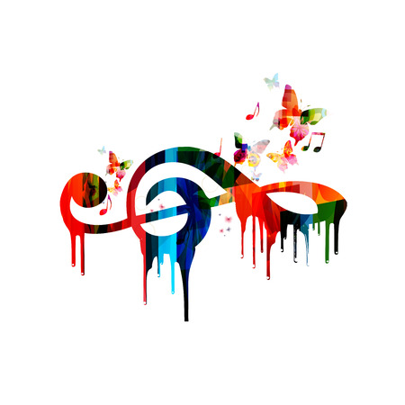 g clef: Colorful G-clef design