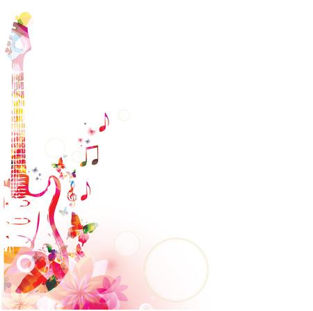 instruments de musique: Fond de musique abstraite Illustration
