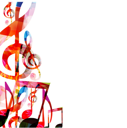 Abstract music background 向量圖像
