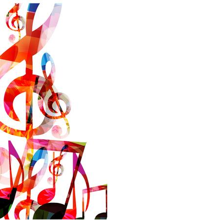 abstract music: Abstracte achtergrond muziek Stock Illustratie