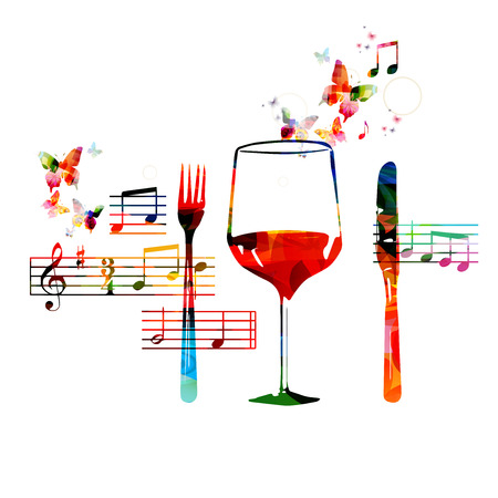 Restaurant background design Illustration