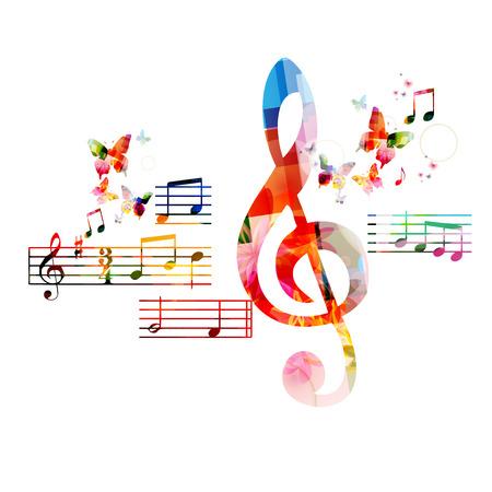 orquesta clasica: Fondo colorido del G-clef