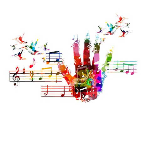 nota musical: Fondo colorido de la música Vectores