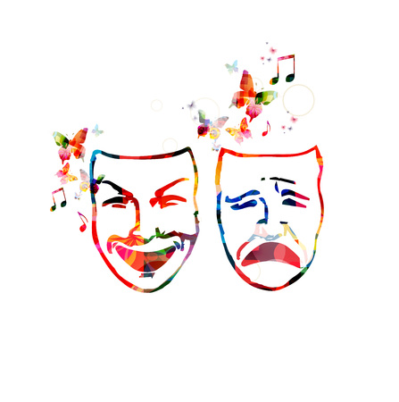 theater masks: Colorful theater masks