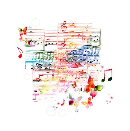 다채로운 음악 배경 스톡 콘텐츠 - 37828206