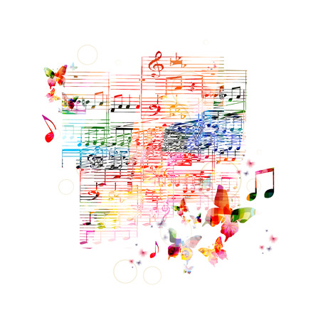 Colorful music background Çizim