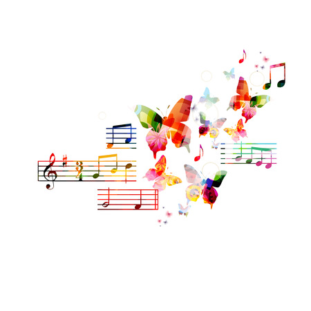 Colorful musical background Banco de Imagens - 38116628