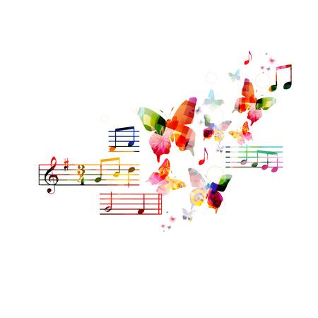 Fond musical coloré