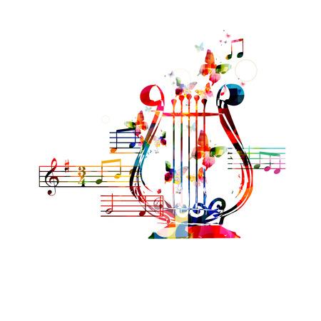 lyre: Colorful lyre design