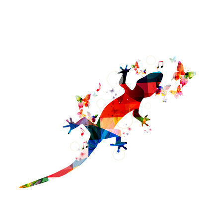 Colorful gecko design Vector