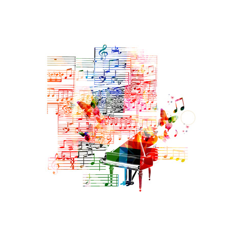 Colorful piano background
