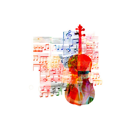 g clef: Colorful violoncello design