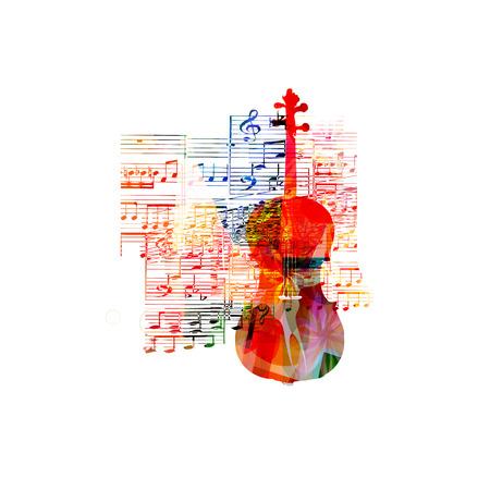 violoncello: Colorful violoncello design