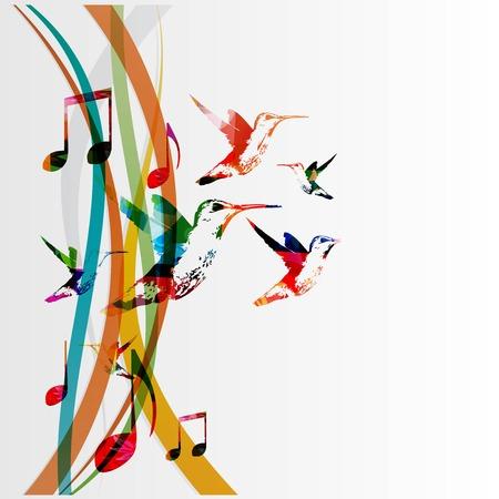 다채로운 음악적 배경 일러스트