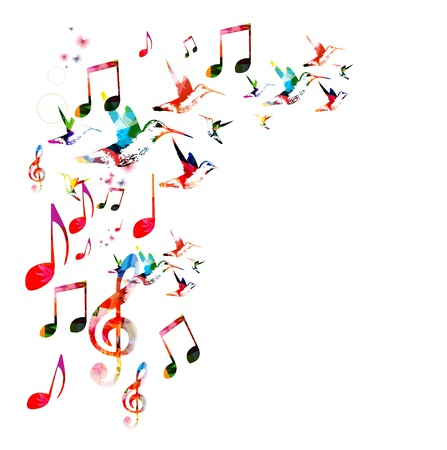 choir: Colorful musical background