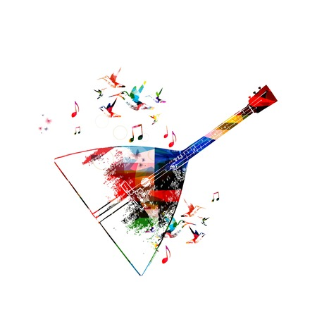 balalaika: Abstract music background with balalaika Illustration