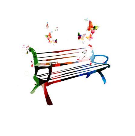 나비 배경으로 다채로운 벡터 벤치 스톡 콘텐츠 - 38116789