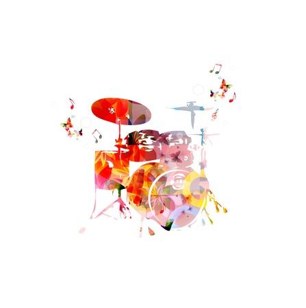 Bunte Musik Hintergrund. Vektor Standard-Bild - 38116790