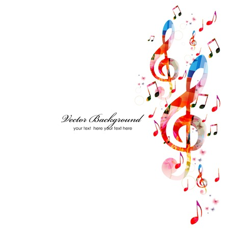 instruments: Colorful music background Illustration