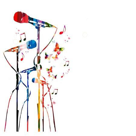 Kolorowe tło muzyczne. Wektor
