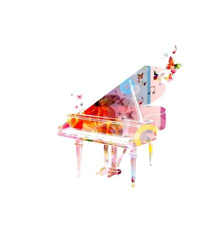 klavier: Bunte Musik Hintergrund. Vektor