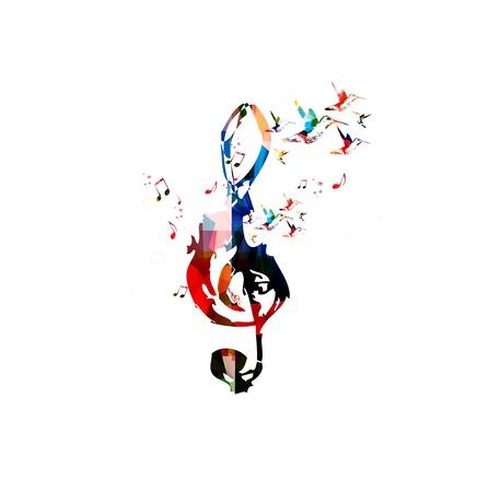 musica clasica: Colorido de la música de fondo vector