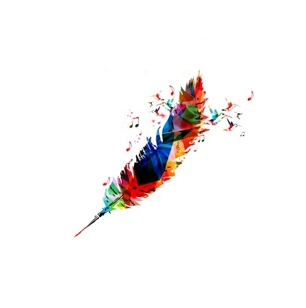 Colorful vector feather