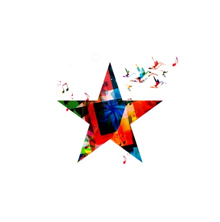 Colorful vector star Vector