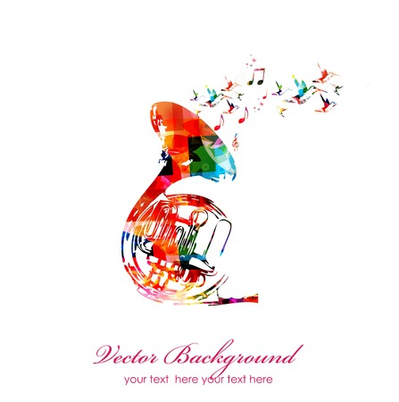 Colorful music background. Vector Vector