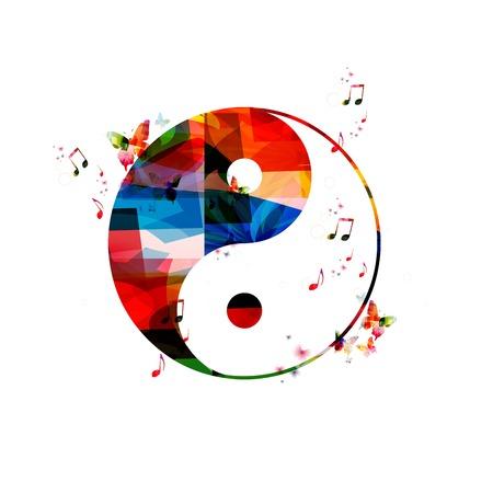 蝶とカラフルなベクトル ying ヤンの背景