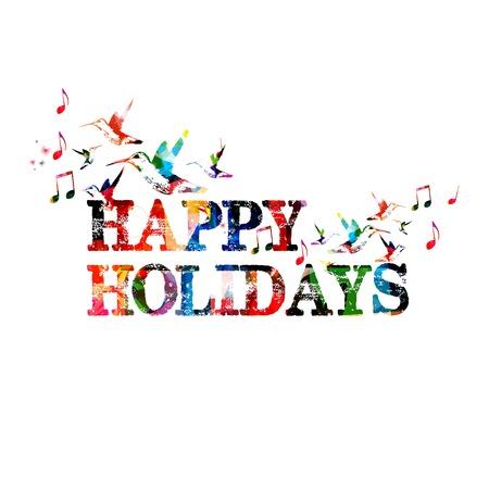 Kleurrijke vector Gelukkige vakantie achtergrond met kolibries
