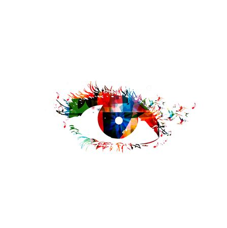 abstract eye: Colorful woman eye. Vector illustration