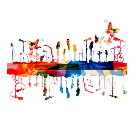 다채로운 음악 악기 배경