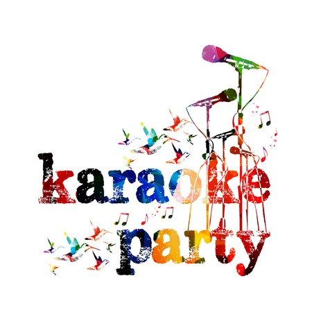 Karaoke party background Ilustracja
