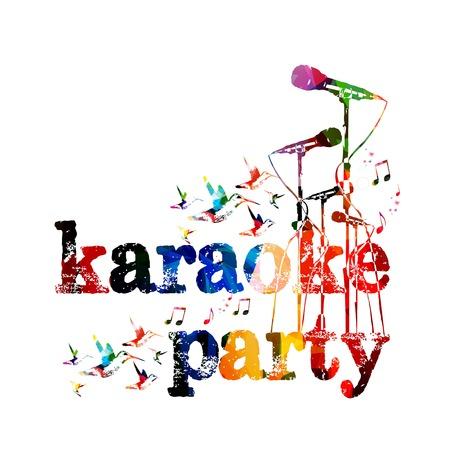 Karaoke party background Illustration