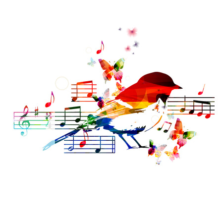g clef: Colorful hummingbird design