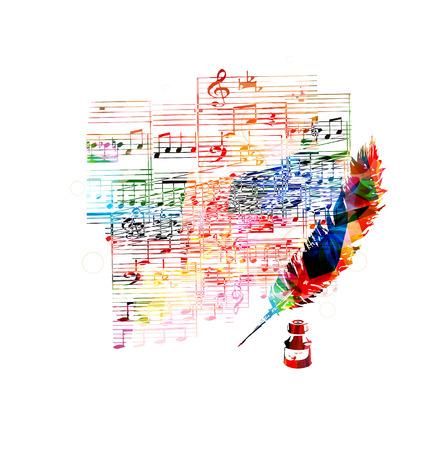 inspiration education: Creative musical design Illustration