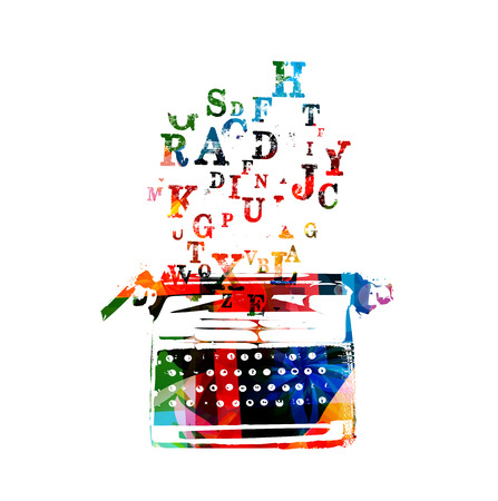 write a letter: Creative writing on typing machine