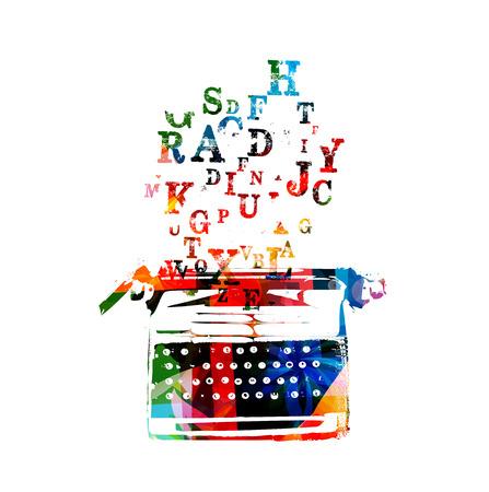Creative writing on typing machine