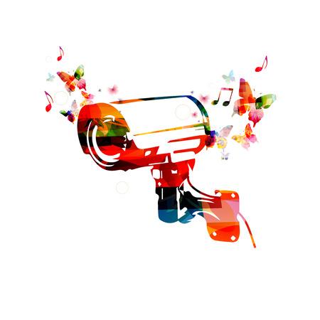 Kleurrijke video surveillance camera