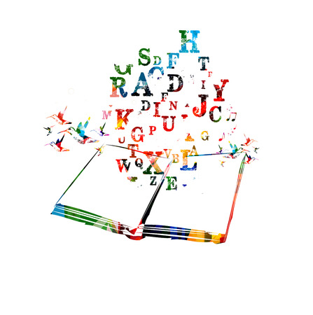創造的な本  イラスト・ベクター素材