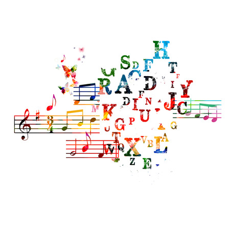 Colorful music background 向量圖像